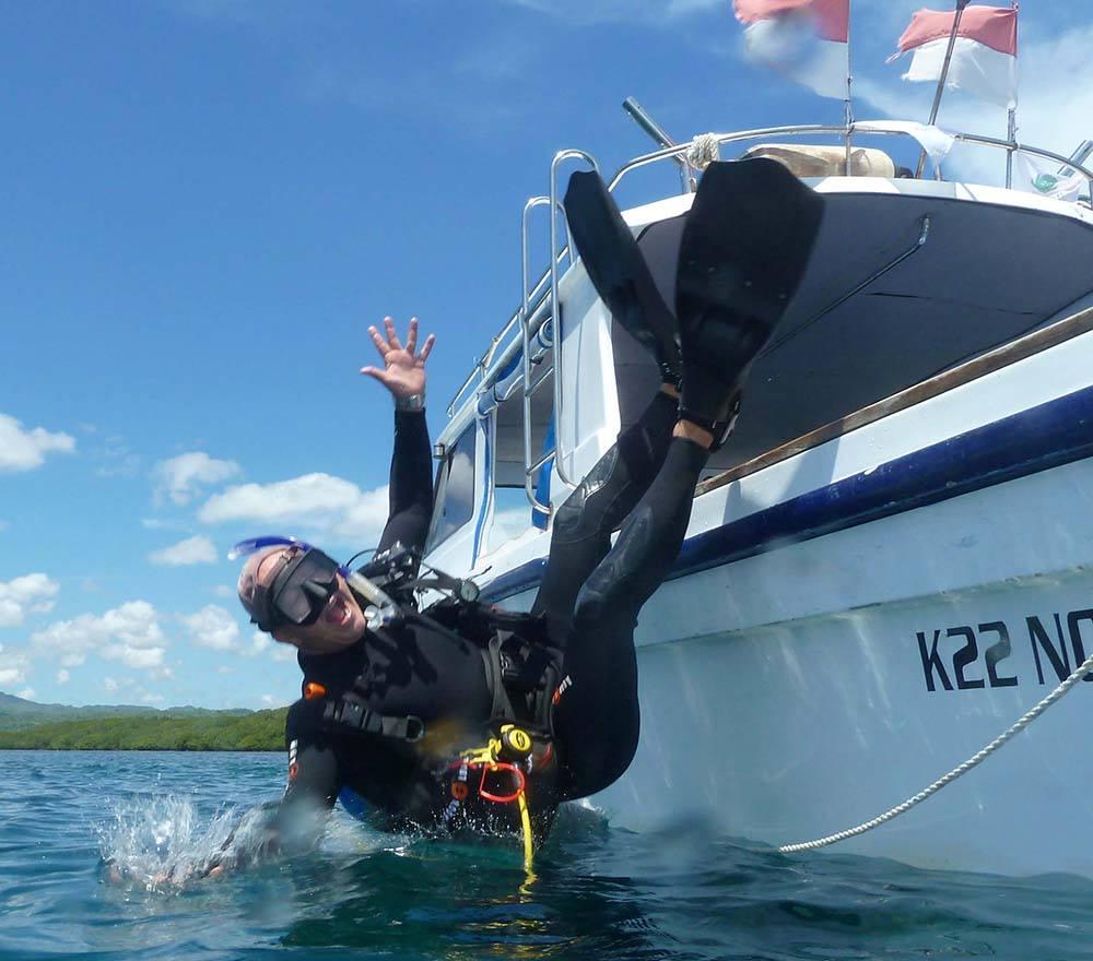 Diving muppet