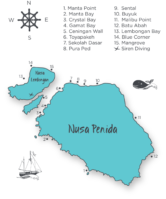 The Nusa Islands