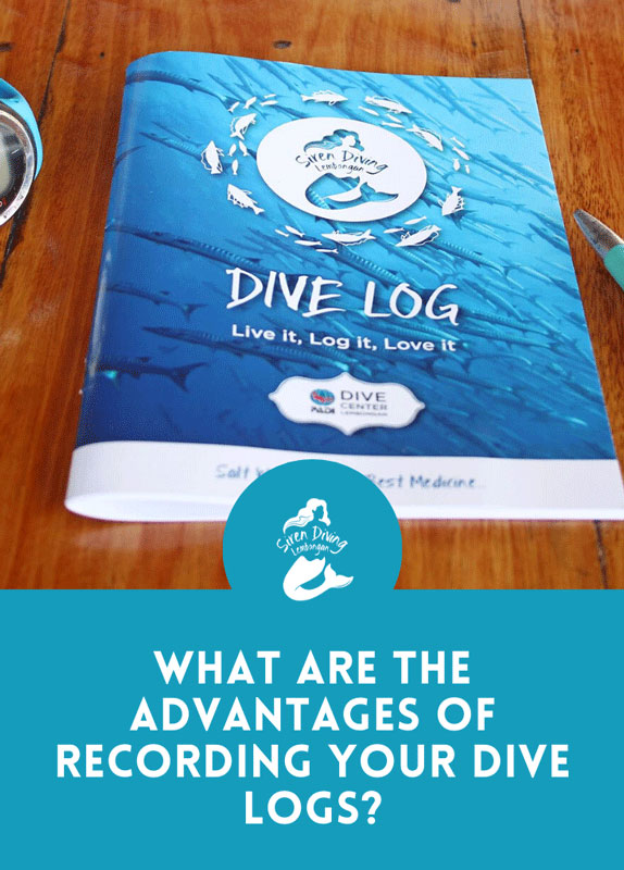 A logbook records all your diving experiences